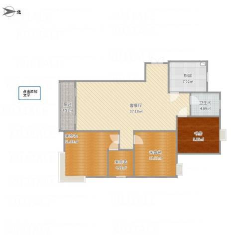 香格里拉1室1厅1卫1厨124.00㎡户型图