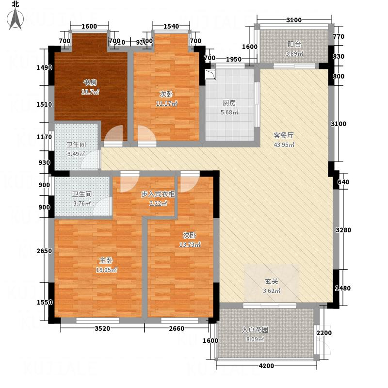 南阳东�1#2#户型4室2厅2卫1厨