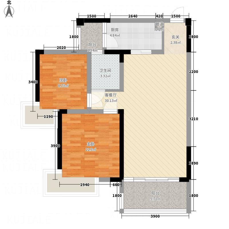 涪城万达广场88.50㎡四栋一单元2、3号户型