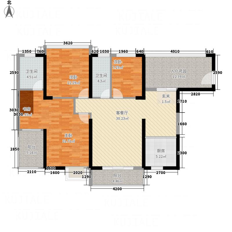 海景1号133131.41㎡3#户型3室2厅2卫1厨