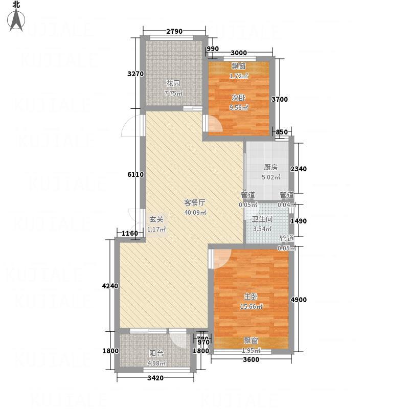 空港家园四期洋房G户型3室2厅1卫1厨