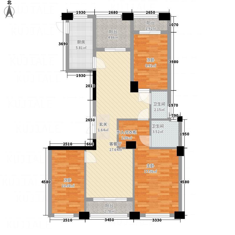 凯旋中央城・北区123.72㎡H三阳台12372户型