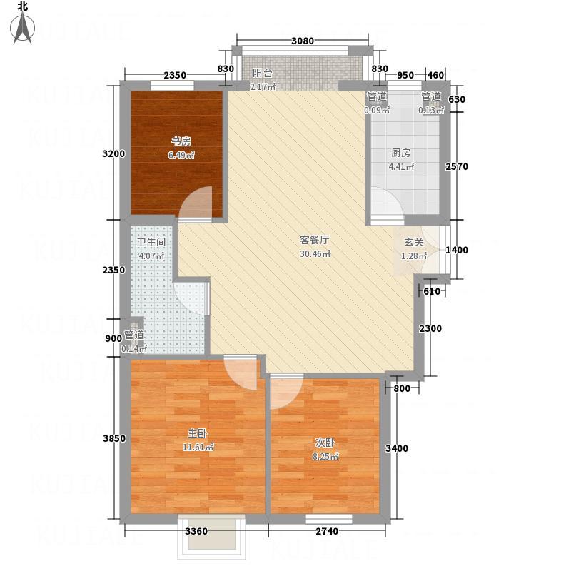 德盛大厦户型3室2厅