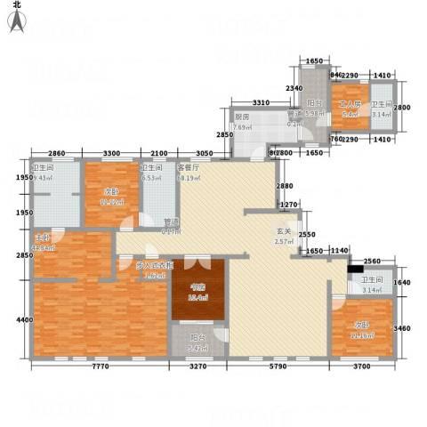 华润外滩九里4室1厅4卫1厨277.00㎡户型图