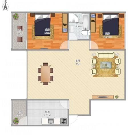 中大君悦金沙三期B12室1厅1卫1厨115.00㎡户型图