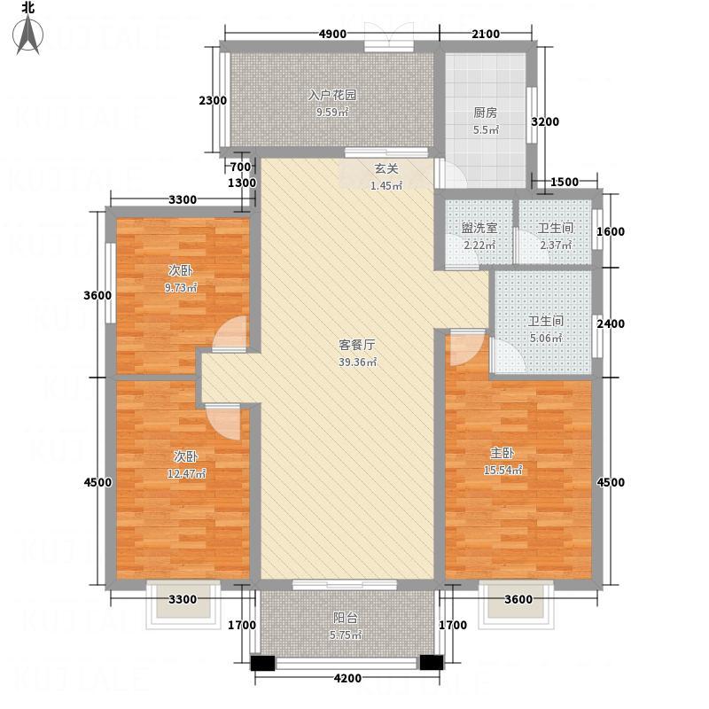 鑫大・国际名苑D1户型3室2厅2卫