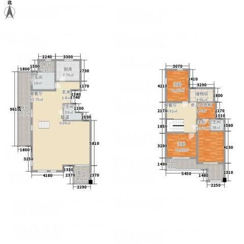 万科西街庭院3室2厅3卫1厨181.37㎡户型图