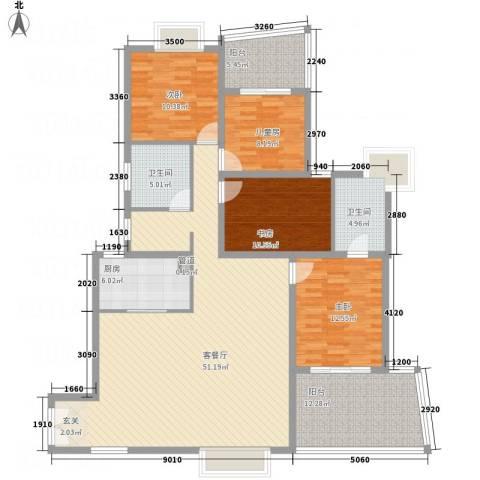 天心电子世界大厦4室1厅2卫1厨143.29㎡户型图