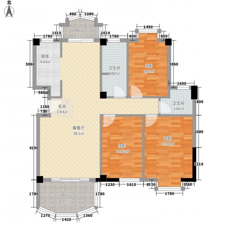 泛华新城127.74㎡K1户型3室2厅2卫