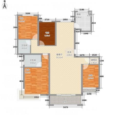 城发水城国际4室1厅2卫1厨177.00㎡户型图
