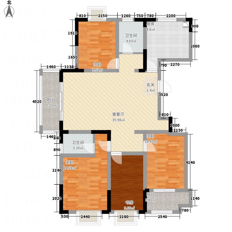 香江城153.00㎡户型4室2厅2卫1厨