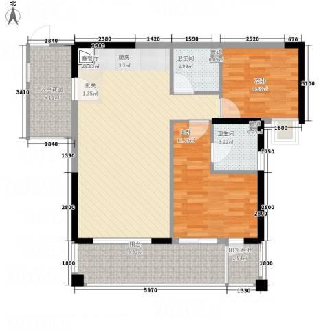 凤凰水城红树湾2室1厅2卫0厨92.00㎡户型图