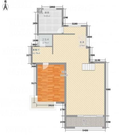 城发水城国际1室1厅1卫1厨138.00㎡户型图