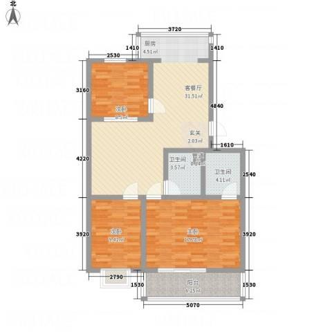 幸福苑3室1厅2卫0厨94.00㎡户型图