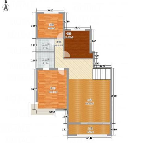 城发水城国际3室0厅2卫0厨136.00㎡户型图