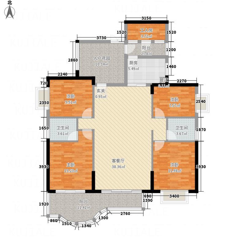 燕南路88号户型4室2厅2卫1厨