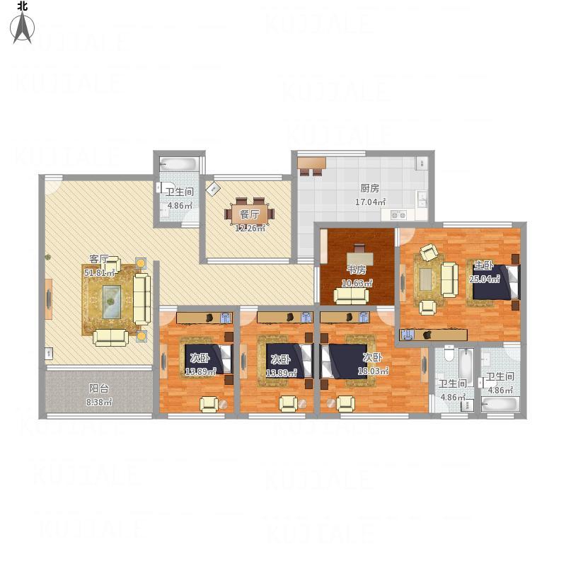 210平米4房2厅3卫