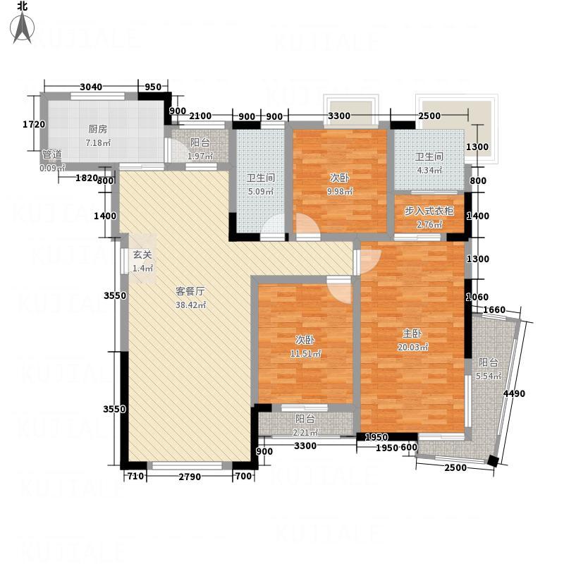 美丽新城户型3室