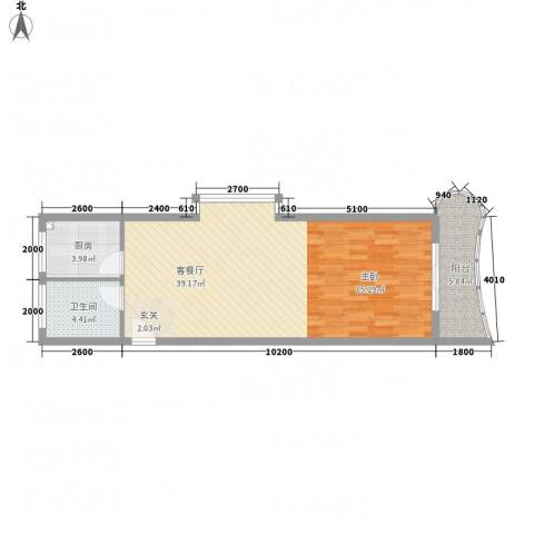 金龙新村1厅1卫1厨75.00㎡户型图