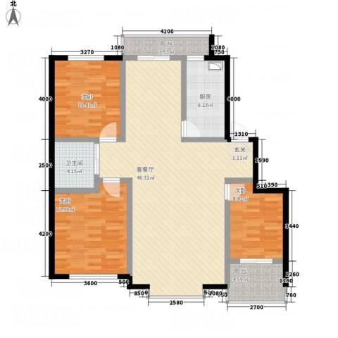 晟源御景湾3室1厅1卫1厨112.66㎡户型图