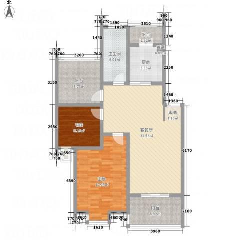 邵村家园2室1厅1卫1厨125.00㎡户型图