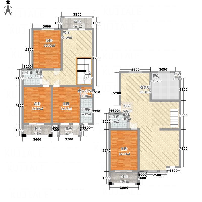 利源帝景22.20㎡户型4室1厅3卫1厨