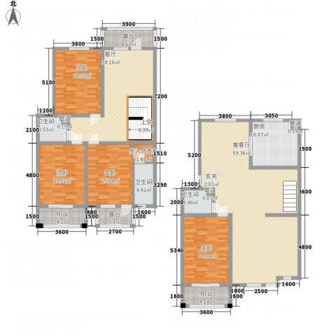 利源帝景4室2厅3卫1厨194.63㎡户型图