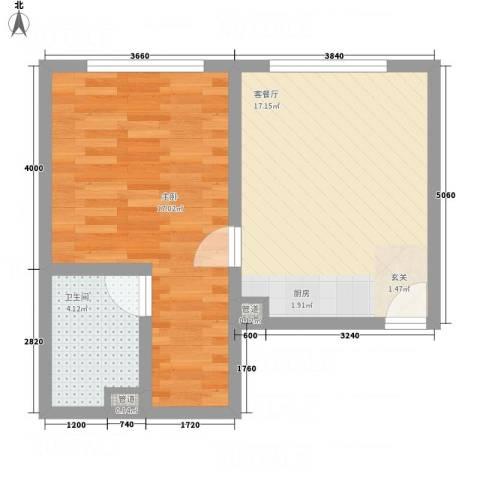 瑞港商业广场公寓1室1厅1卫0厨38.55㎡户型图