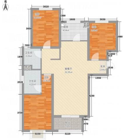 佳腾大厦3室1厅2卫1厨115.00㎡户型图