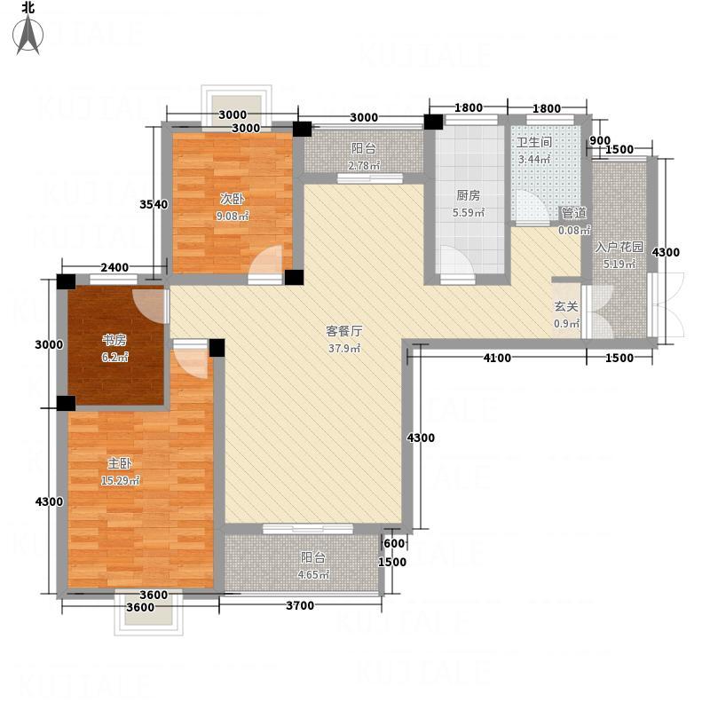 佳信・凯旋城117.55㎡户-6户型3室2厅1卫1厨