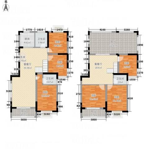 春江花园三期6室2厅3卫1厨224.00㎡户型图