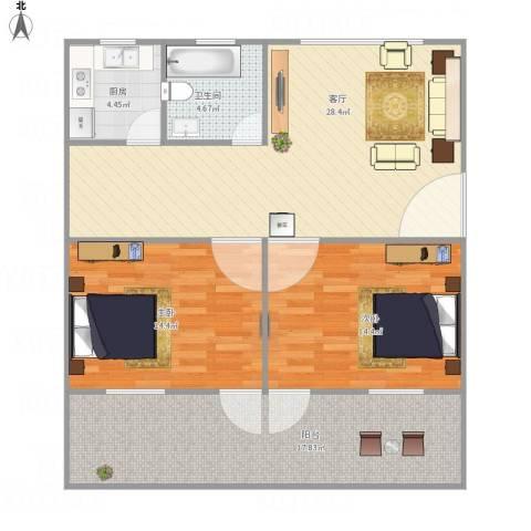 美仁新村2室1厅1卫1厨112.00㎡户型图