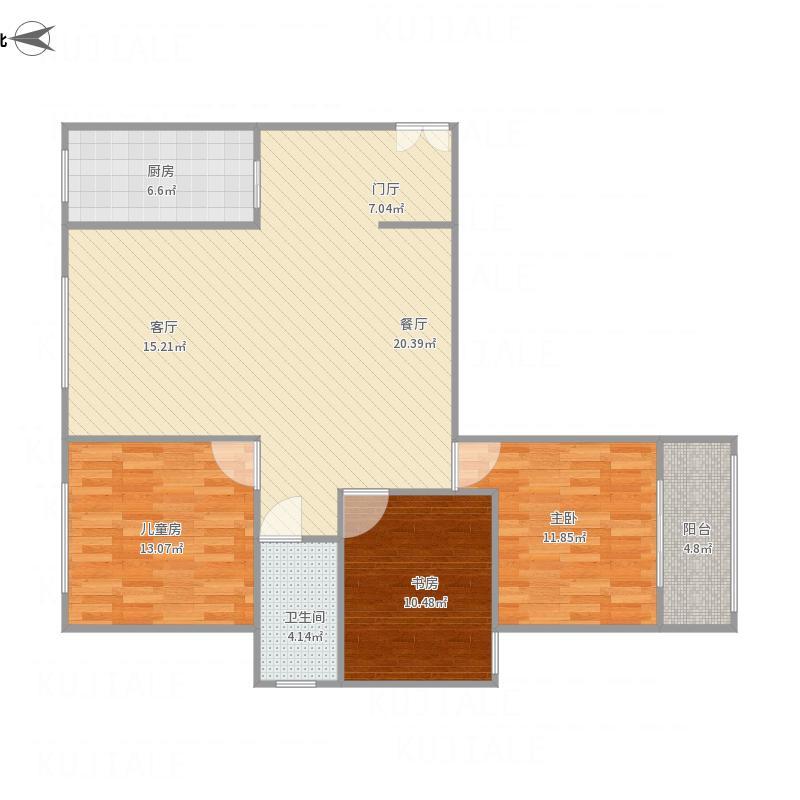 14#123.2平方三室两厅