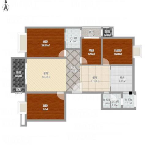 雍景湾大公馆4室2厅2卫1厨168.00㎡户型图