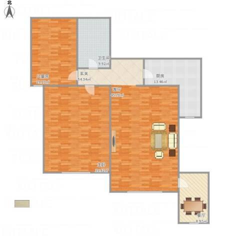 李啸北的小区2室1厅1卫1厨187.00㎡户型图