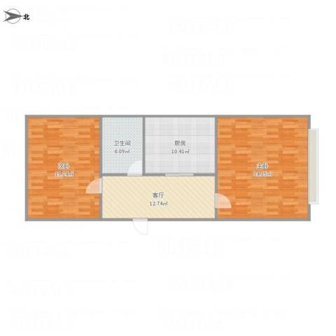 天资里2室1厅1卫1厨97.00㎡户型图
