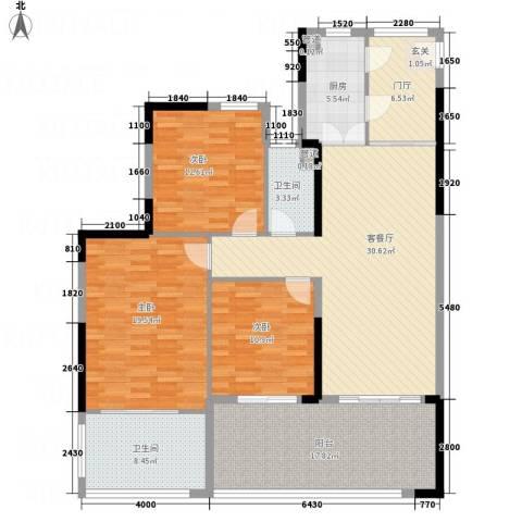 华润・石梅湾九里3室1厅2卫1厨161.00㎡户型图