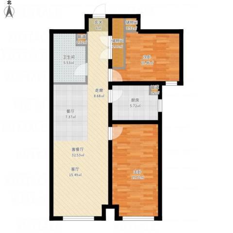 中阳信和水岸2室1厅1卫1厨104.00㎡户型图