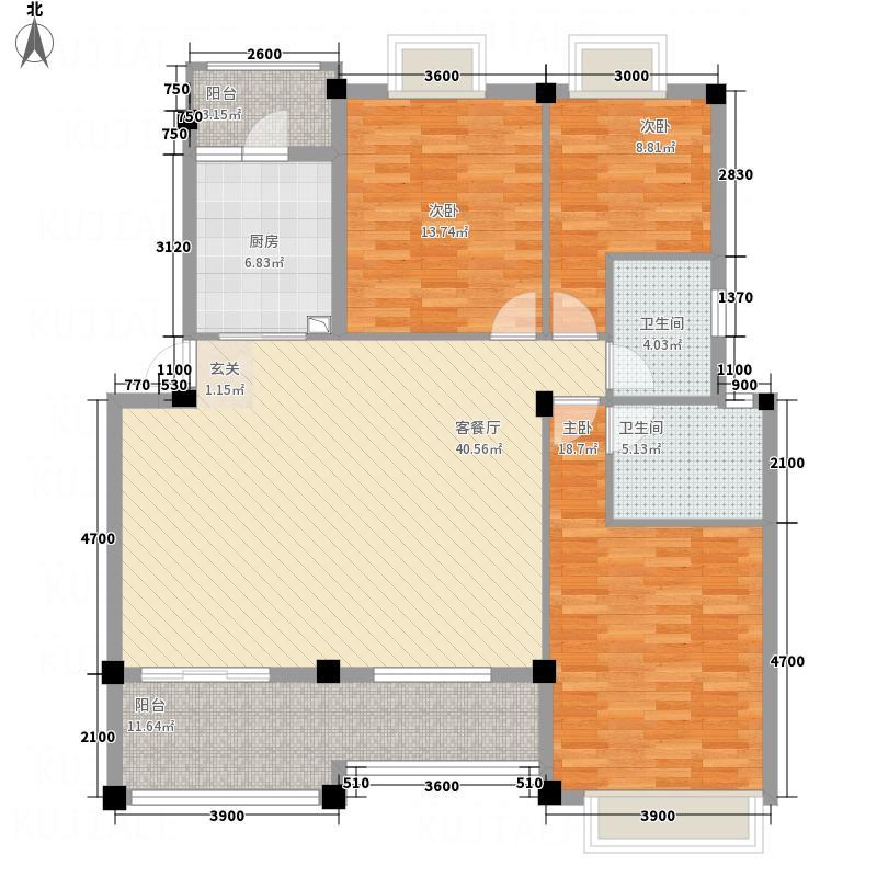 雄江苑13.00㎡户型3室