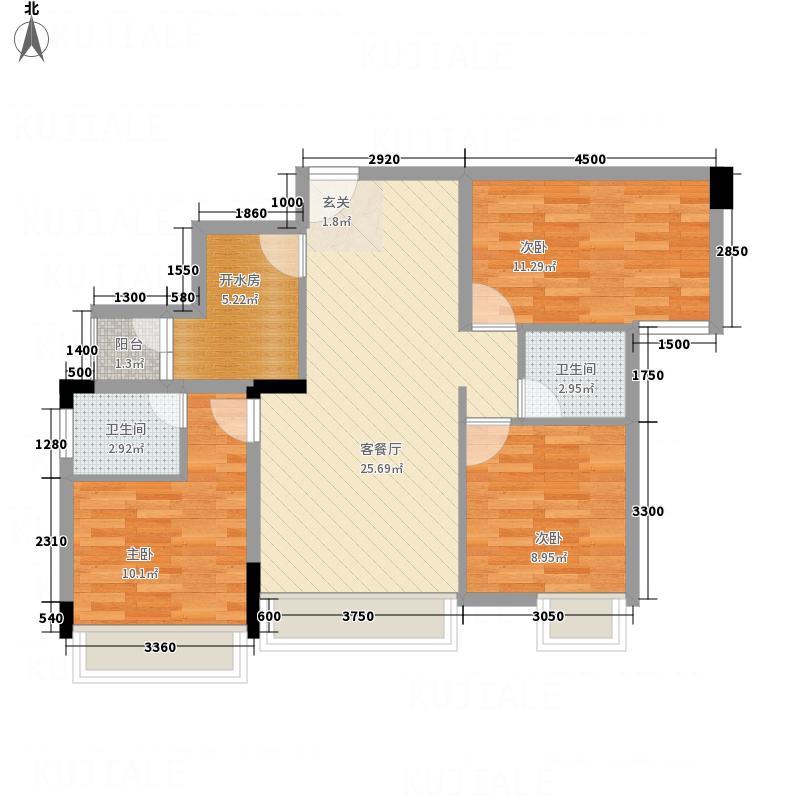 时代・奥特莱斯B3户型3室2厅2卫