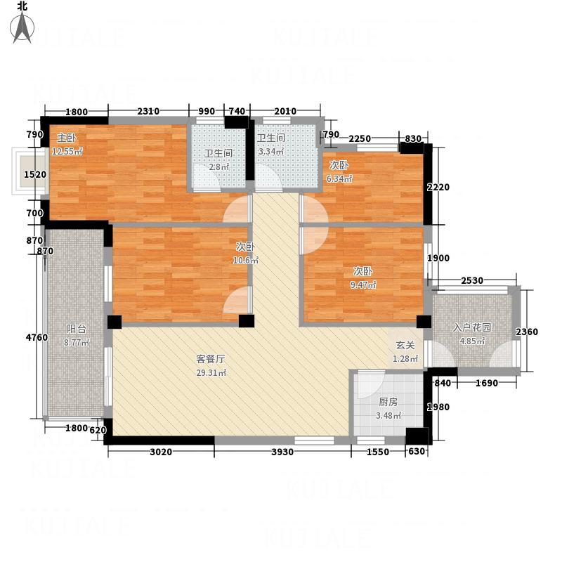沸城国际21613.16㎡2号楼1-6号户型4室2厅2卫1厨