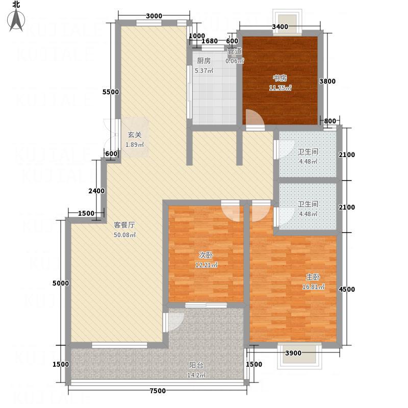 光华世家142.00㎡J户型3室2厅2卫1厨