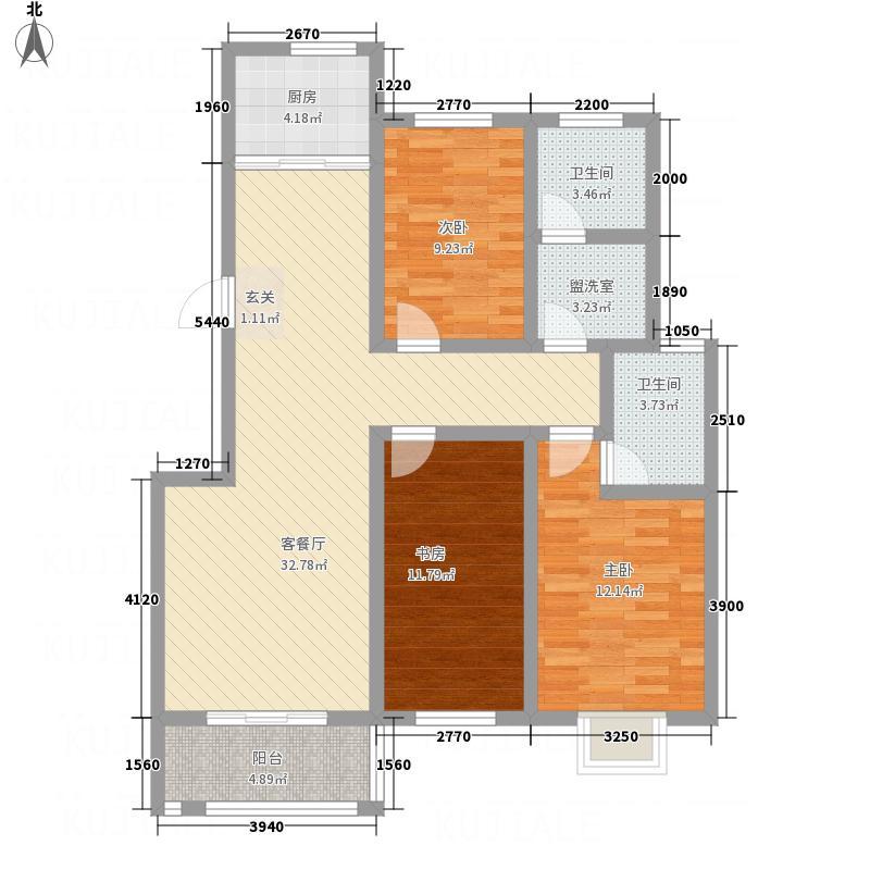 法姬娜商业街125.80㎡2户型3室2厅2卫1厨