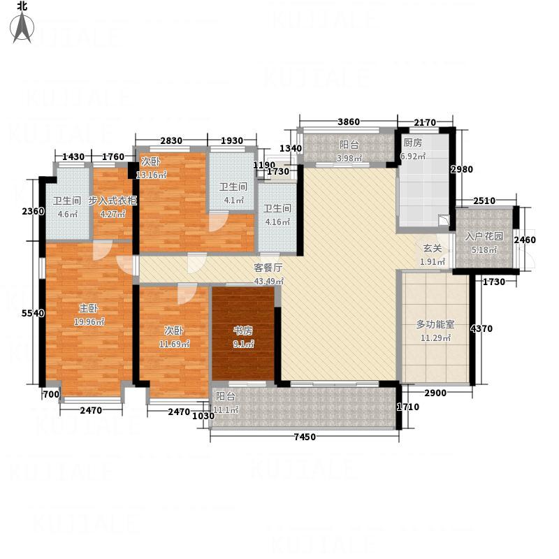 天玺湾4室1厅3卫1厨152.99㎡户型图