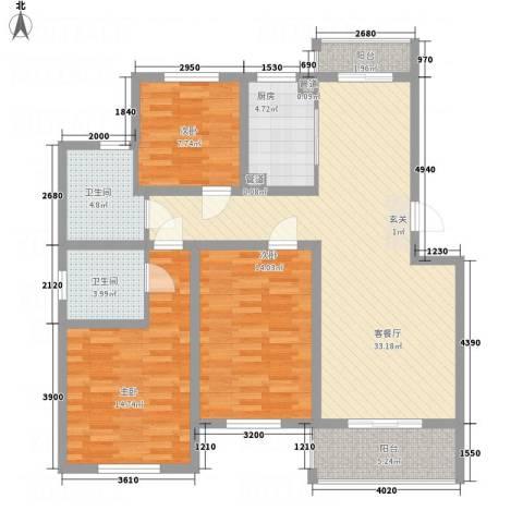 文锦苑3室1厅2卫1厨112.00㎡户型图