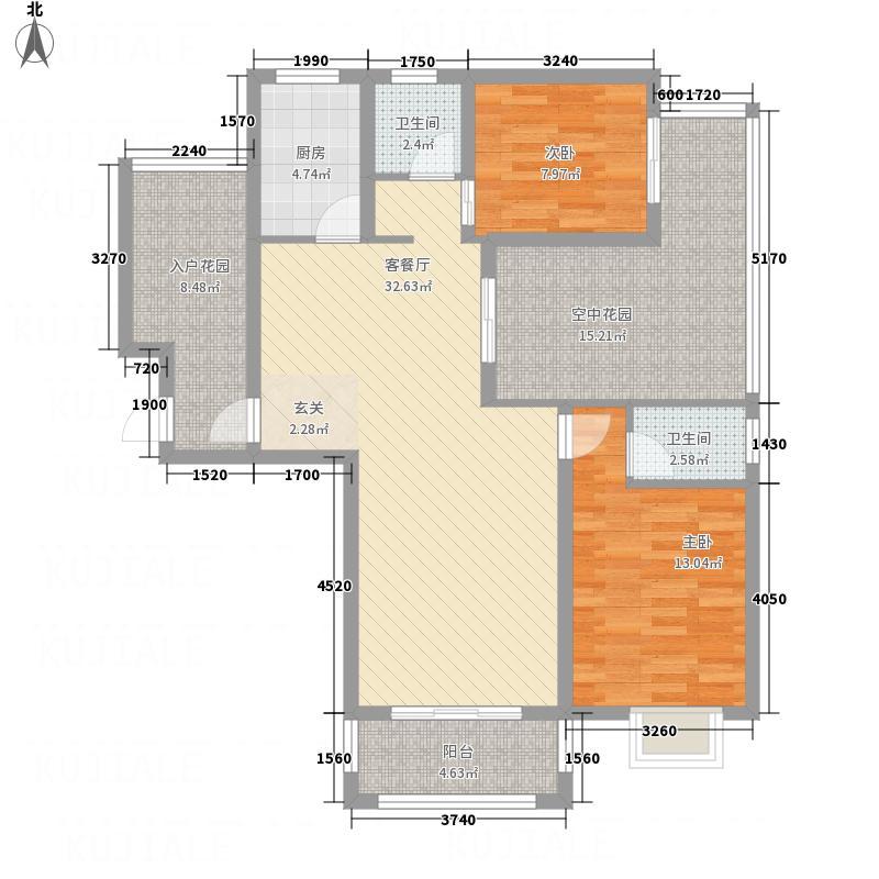 东晶国际131.65㎡B―1户型3室2厅2卫1厨