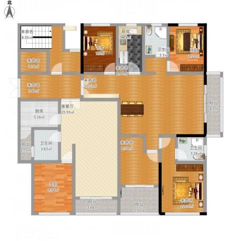 宝带小区3室1厅3卫2厨231.00㎡户型图