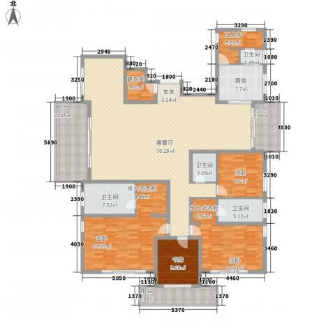 桃源居安阳花园4室1厅4卫1厨265.00㎡户型图