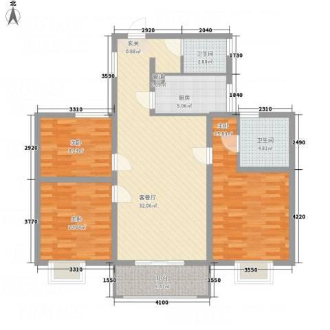 文锦苑3室1厅2卫1厨116.00㎡户型图