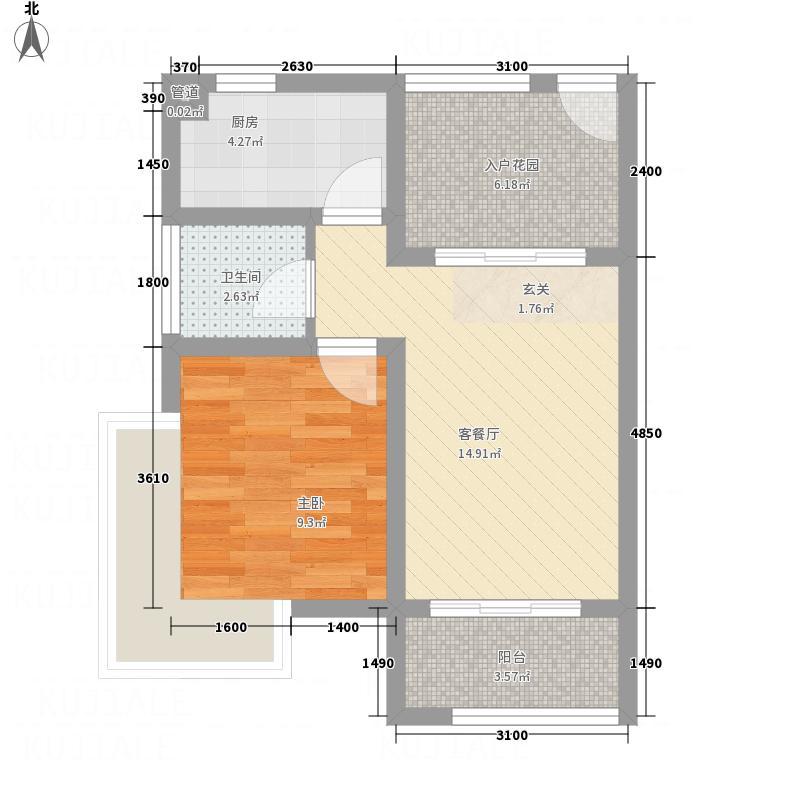 石马郡1158.85㎡DSCI户型1室1厅1卫1厨